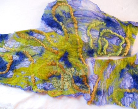 nuno felted ex-scarf