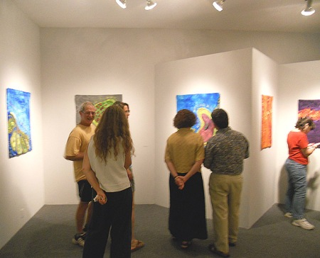 people viewing the show at the opening