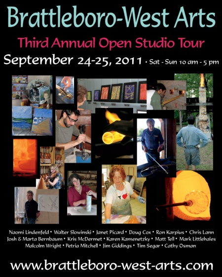 2011 Brattleboro West Arts Studio Tour