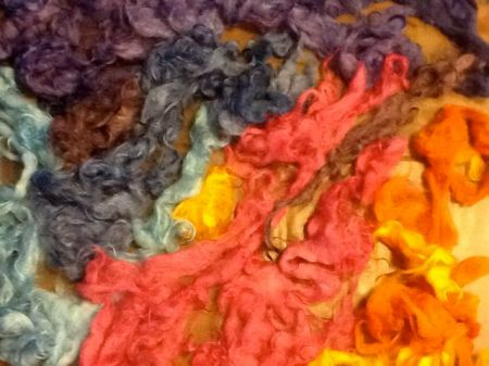 newly dyed mohair