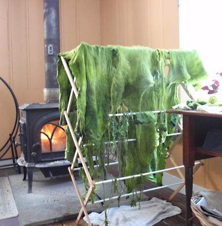 Avocado Dyeing Drying