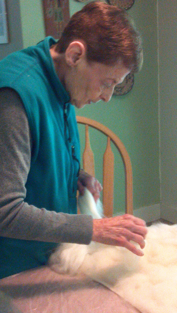 Felting with Mom 1