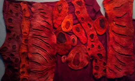 dyed resist felting