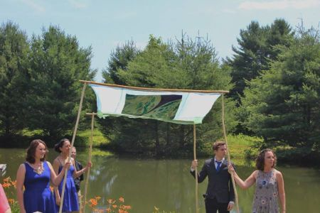 Chuppah at the ceremony